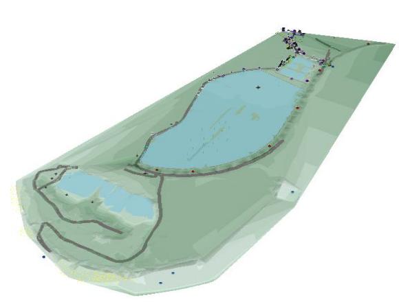 Model 3D zbiornika wodnego (Źródło: http://warsztatygornicze.pl/)