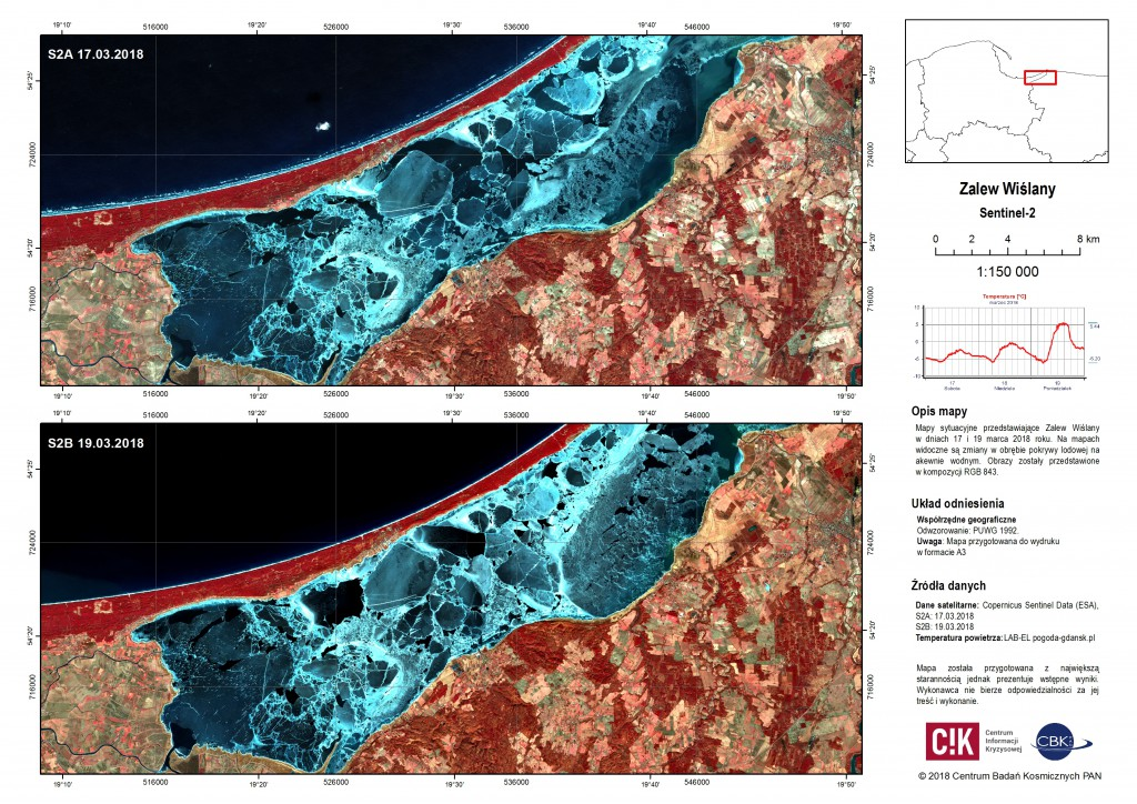 Situation maps of Vistula Lagoon and Vistula Mouth